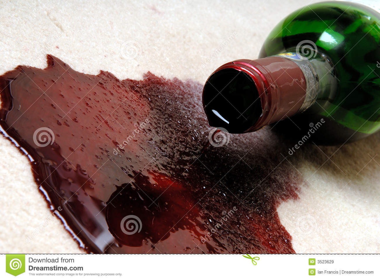 Spilled Red Wine Royalty Free Stock Images Image 3523629