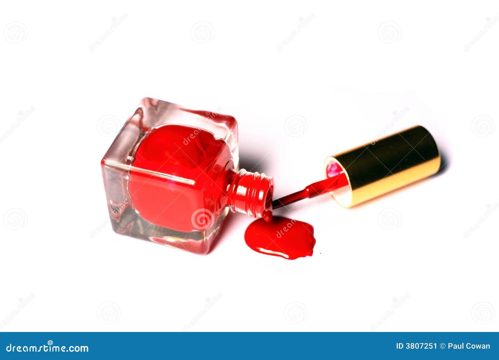 Spilt Nailpolish Bottle Brush Stock Image - Image: 3807251