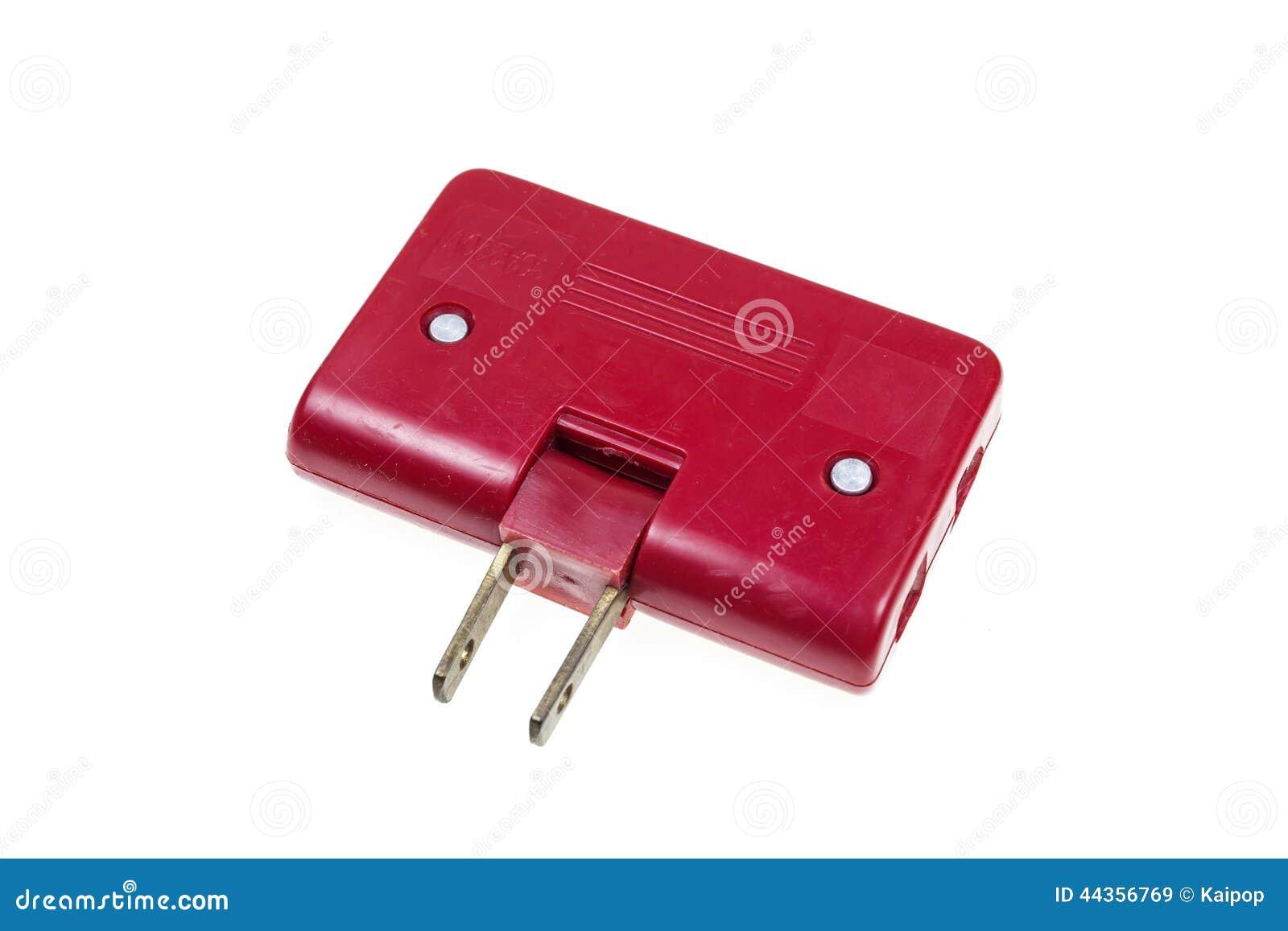 Spina elettrica rossa