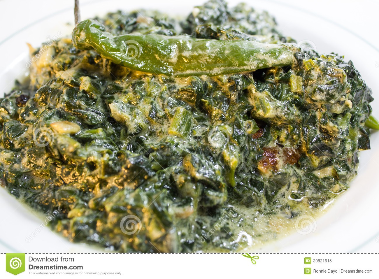 Spiced Coconut Spinach Recipe — Dishmaps