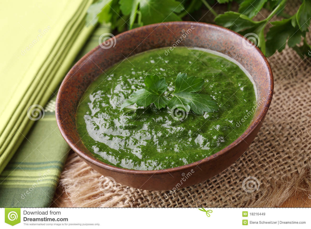 Spinach Cream Soup Royalty Free Stock Images - Image: 18216449