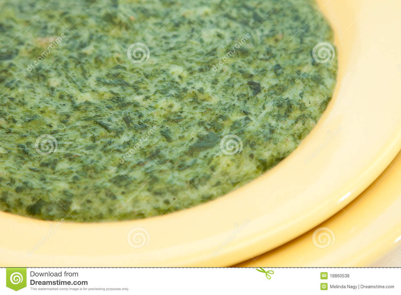 Spinach Cream Soup Royalty Free Stock Photos - Image: 18860538