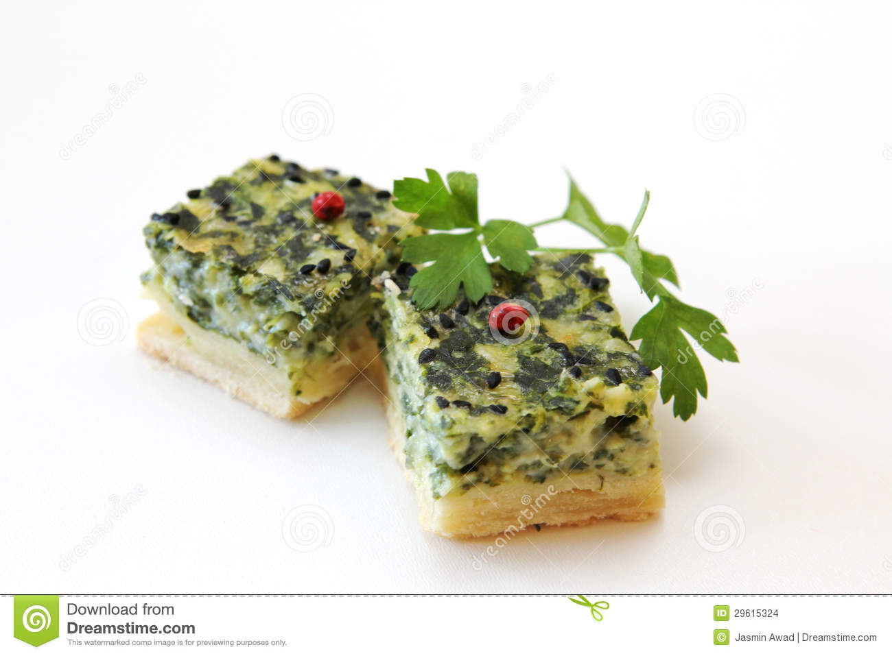 Spinach quiche fingerfood stock images image 29615324 for Decoration quiche