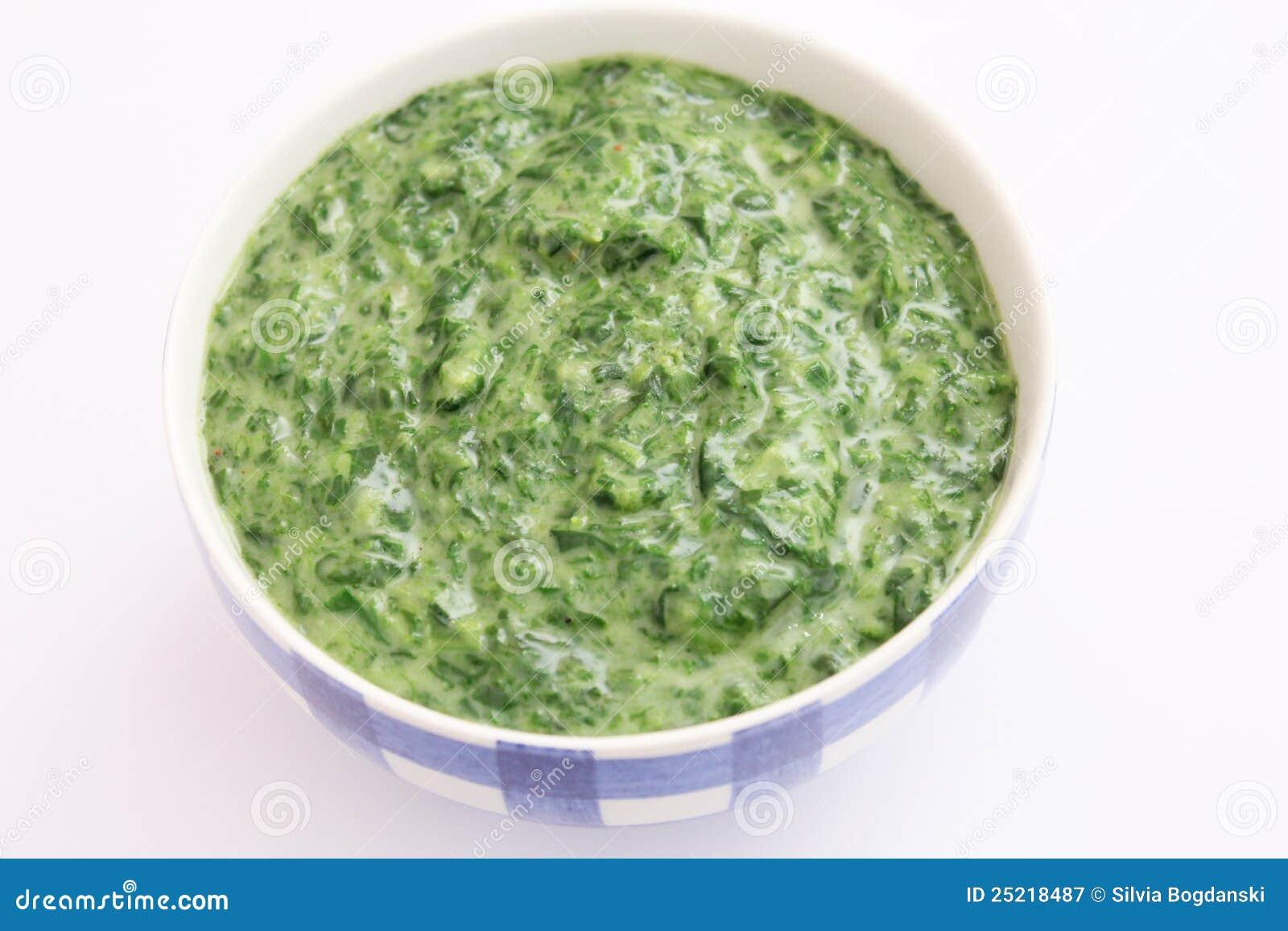 Spinaci con crema