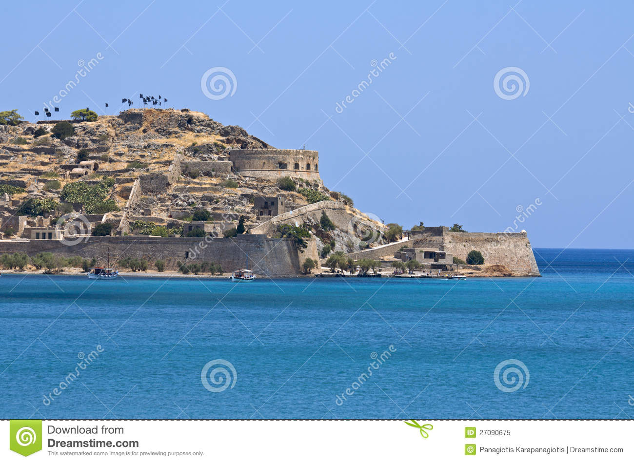 Crete Island Greece  city pictures gallery : ... island and fortress at Plaka, Elounda bay of Crete island in Greece