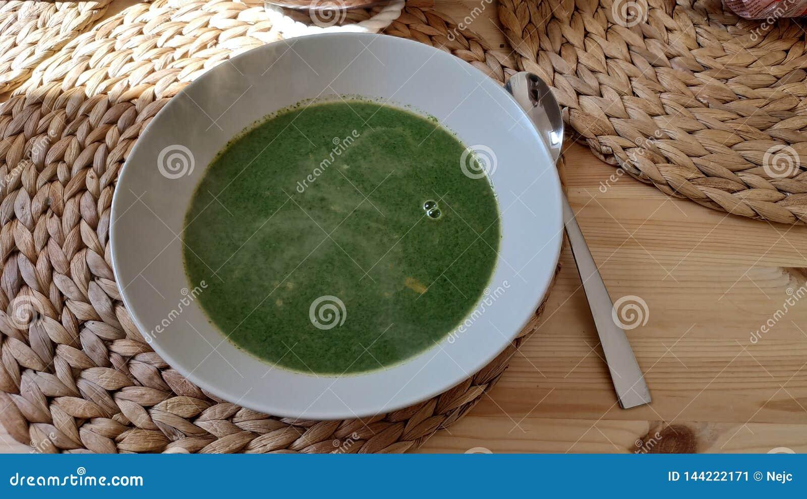 Spinatssuppe