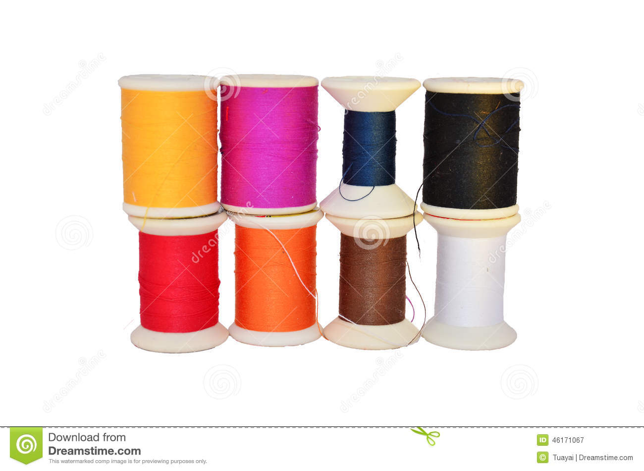 Spindle Roll Or Spool Bobbin Stock Image Image Of Craft