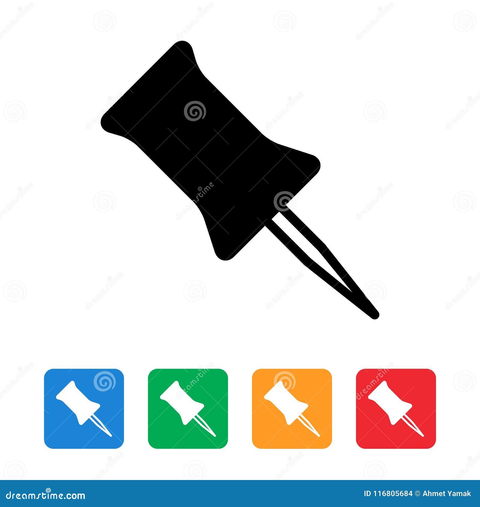 Spinga la progettazione piana dell icona del perno