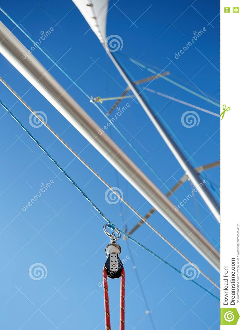 Spinnaker Pole Is A Spar Used In Sailboats Stock Photo Image Of Marine Wiring Diagrams Sailboat Mast The Rigged To Run From Base Windward Over Side Boat For Line Attached