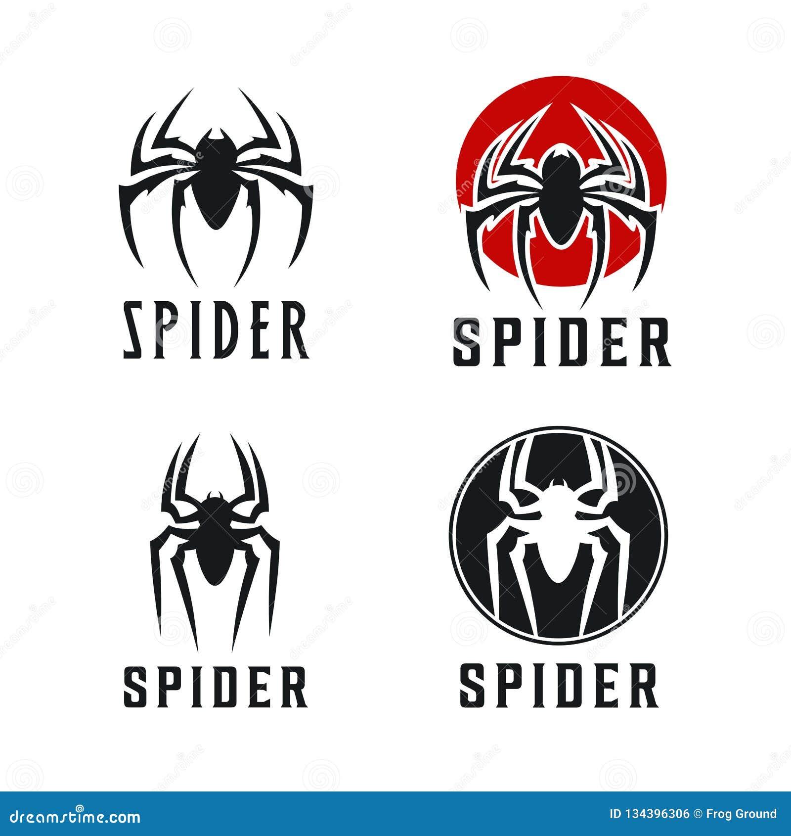 Spinnen-Ausweislogoentwurfs-Inspiration Illustration
