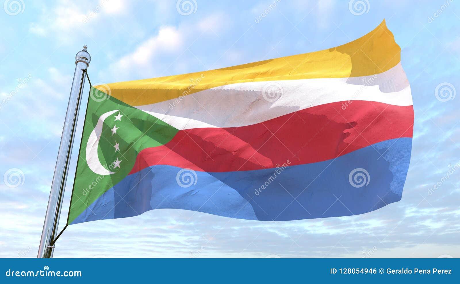 Spinnende Landesflagge Komoren