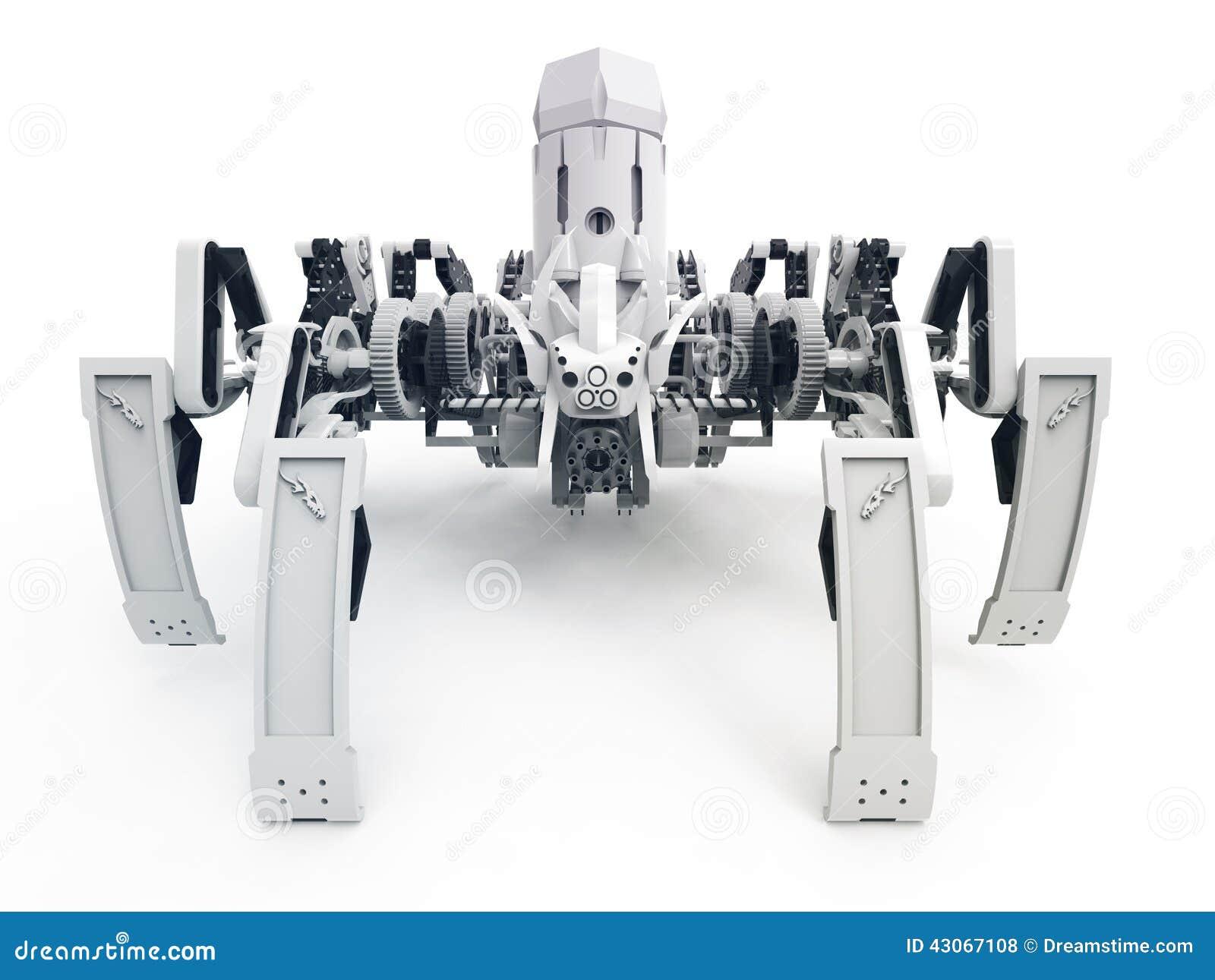 Spinnenroboter unter Verwendung Jansen-Mechanismus und Klann-Mechanismus VORDERANSICHT