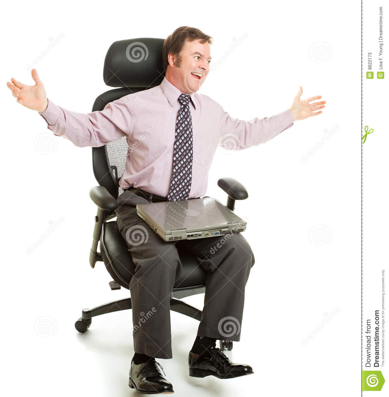 Spinning In Ergonomic Chair Stock Photos Image 8622173