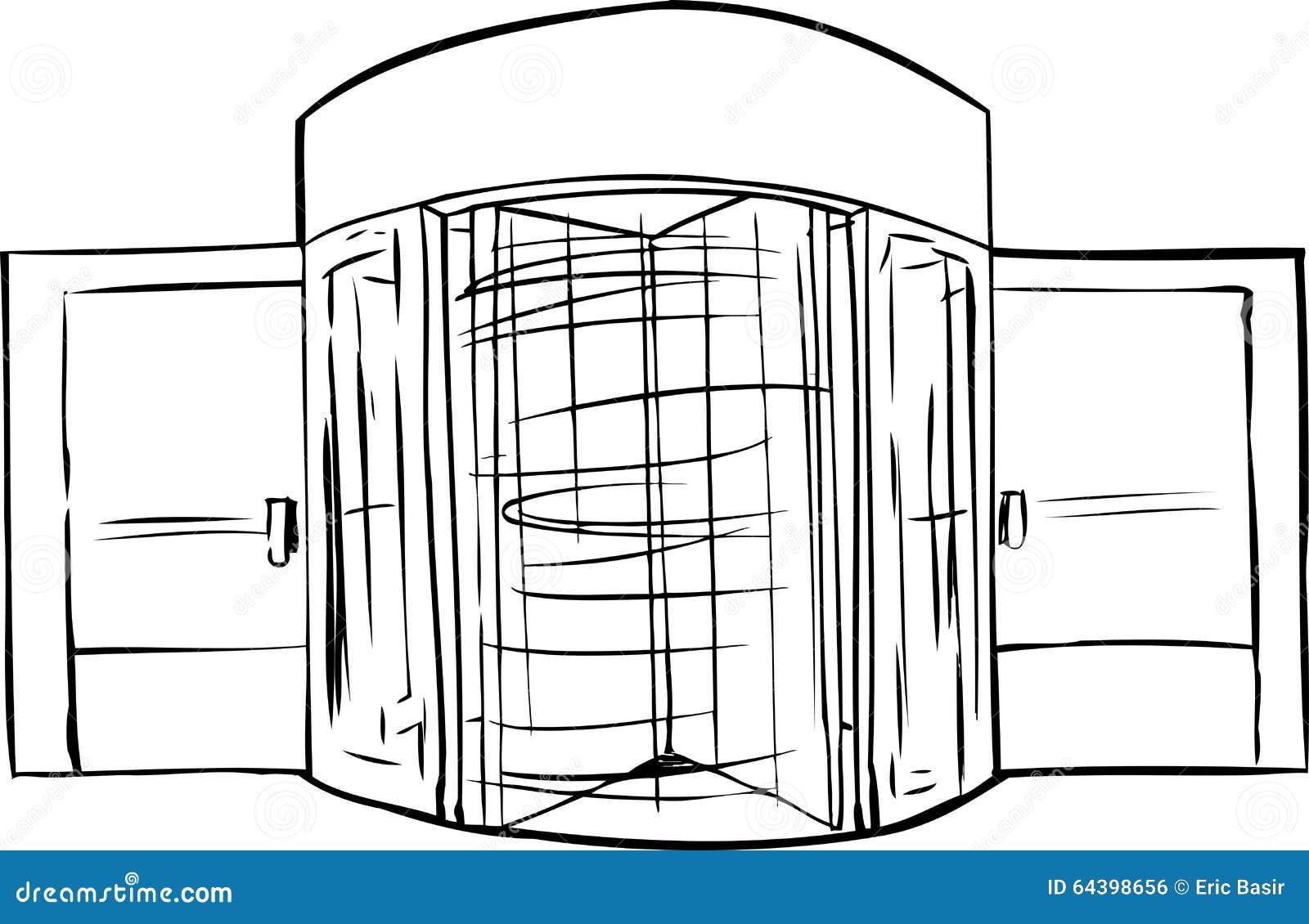 Spinning Revolving Door Outline  sc 1 st  Dreamstime.com & Spinning Revolving Door Outline Stock Illustration - Illustration ...