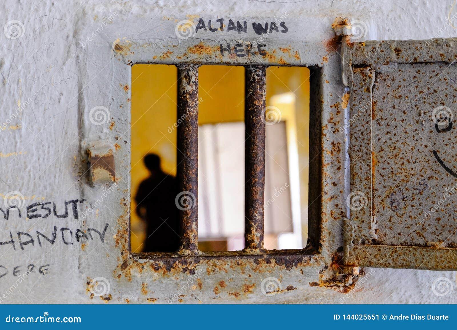 Spioncino su una porta di prisions