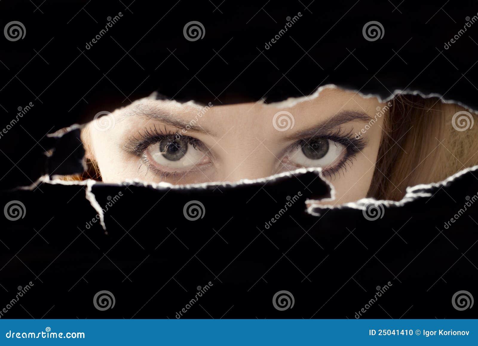 Spionera kvinnor för ögonhål s