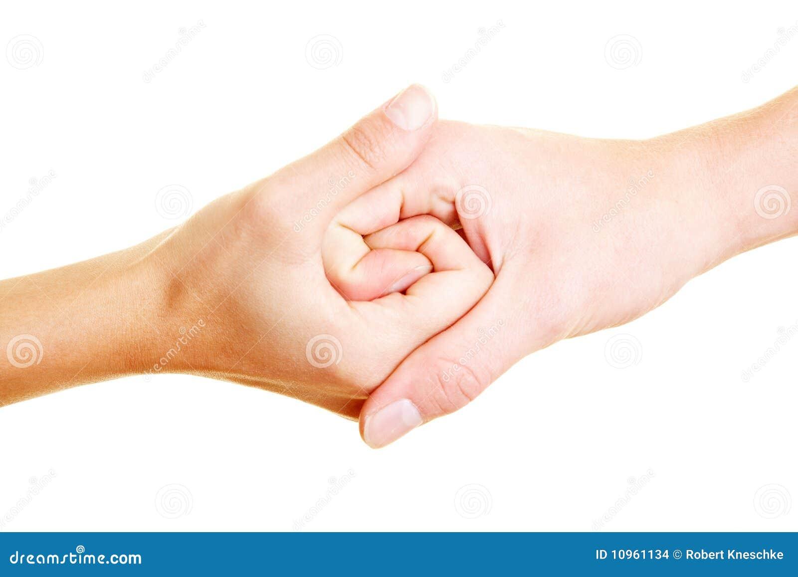 Spiraal in de hand