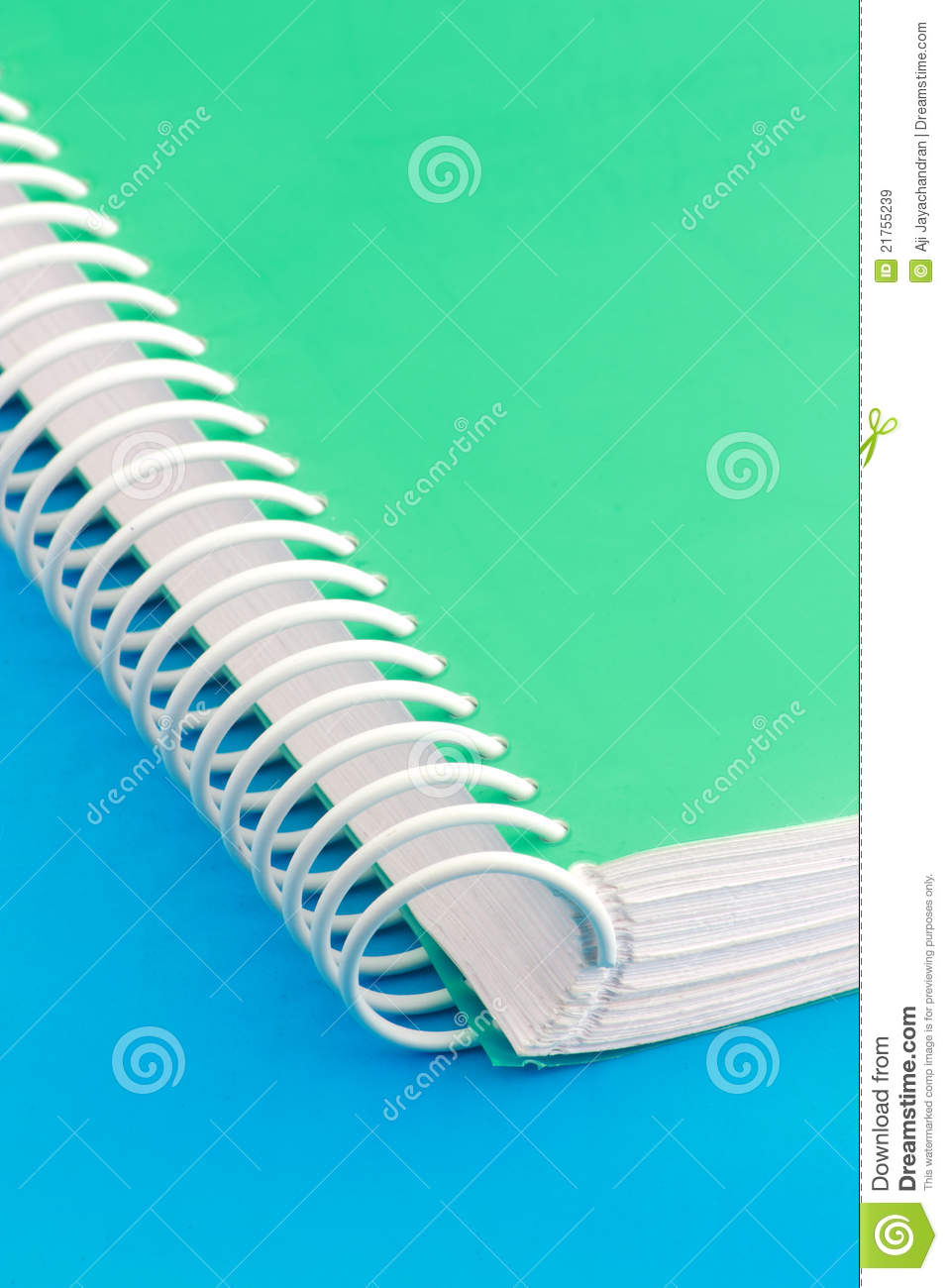 spiral binding stock image  image of book  text  blue
