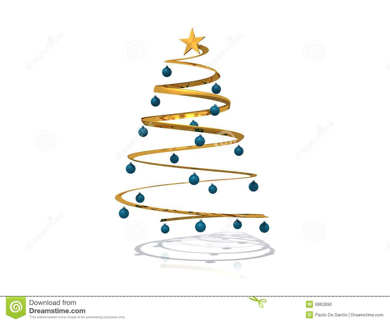 Spiral Christmas Tree Stock Photo Image 6862890