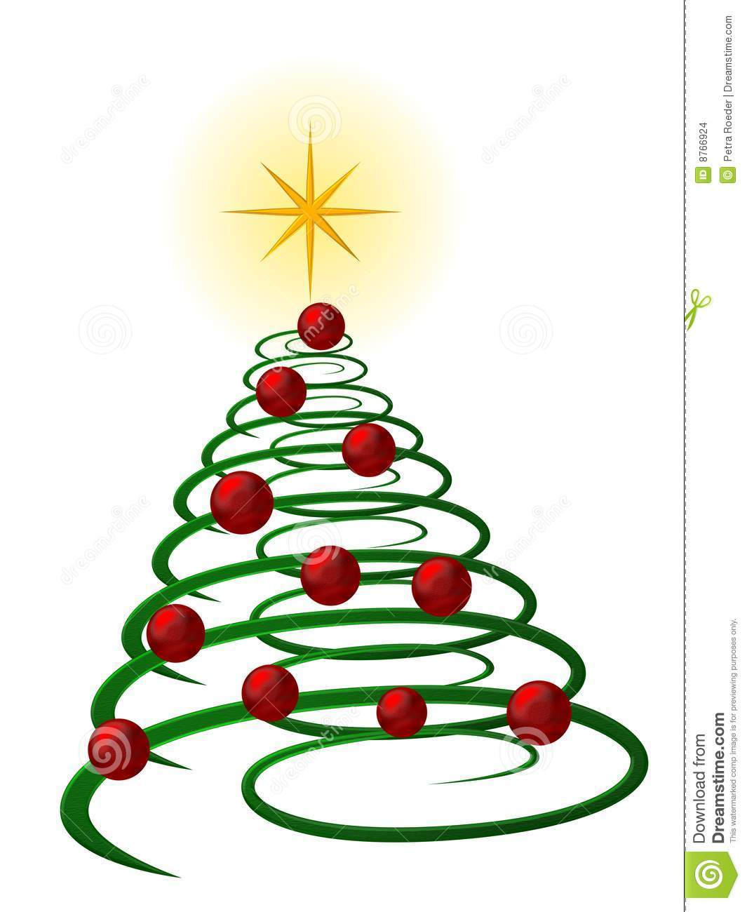 Stock Images Spiral Christmas Tree Image8766924 on Green Spiral Clip
