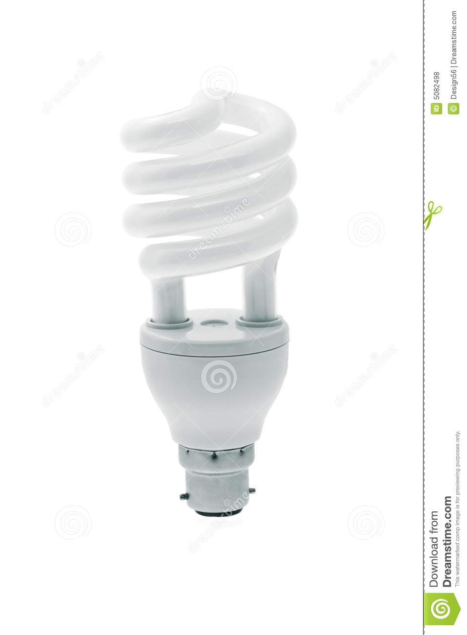 Spiral energy saving light bulb