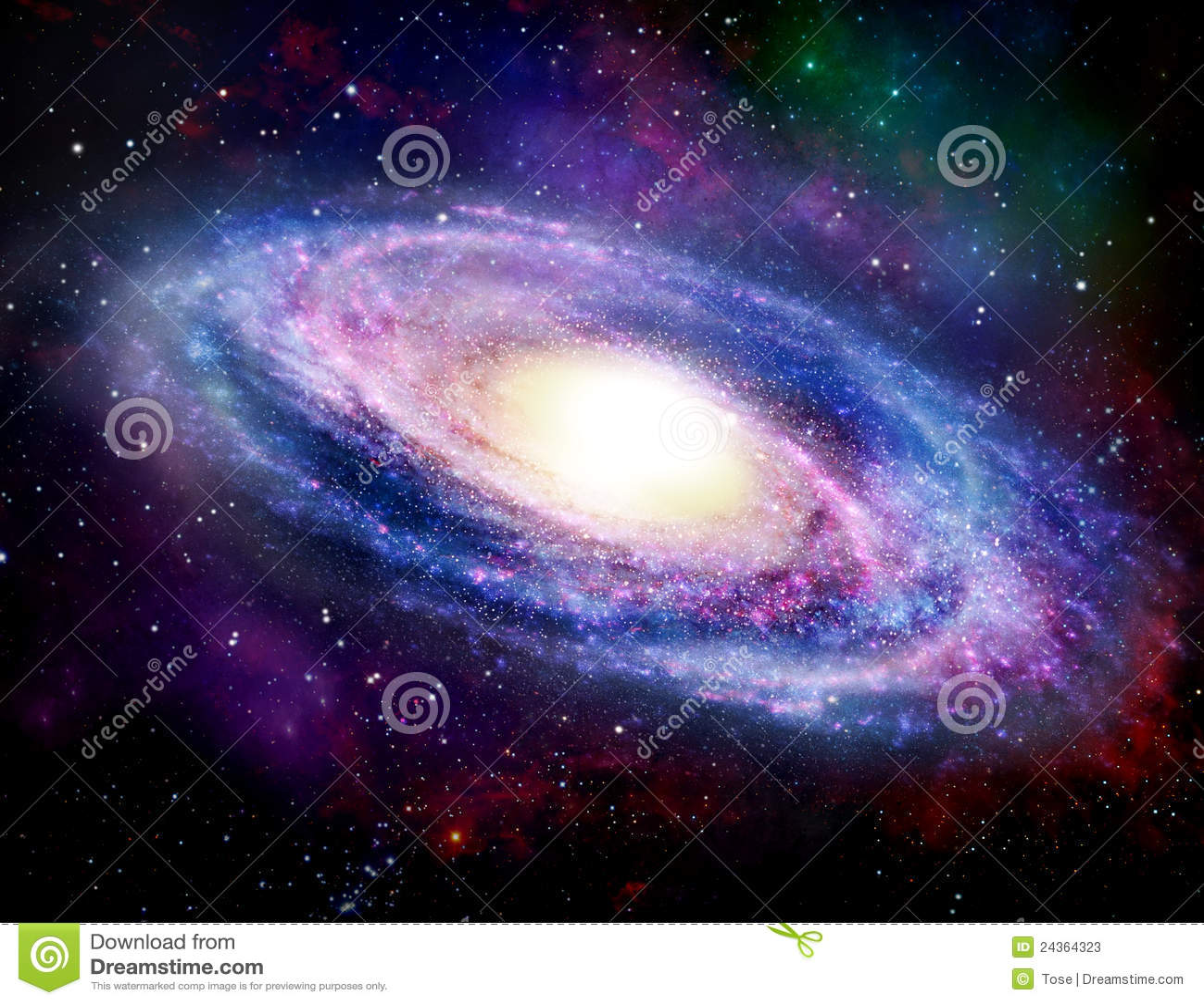 Spiral Galaxy stock illustration. Image of galactic, star