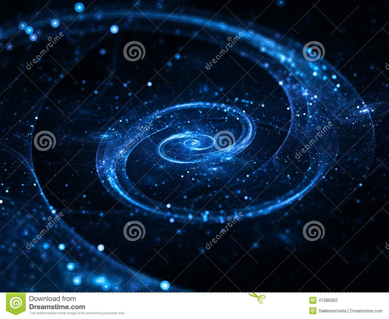 blue spiral galaxy abstract - photo #16
