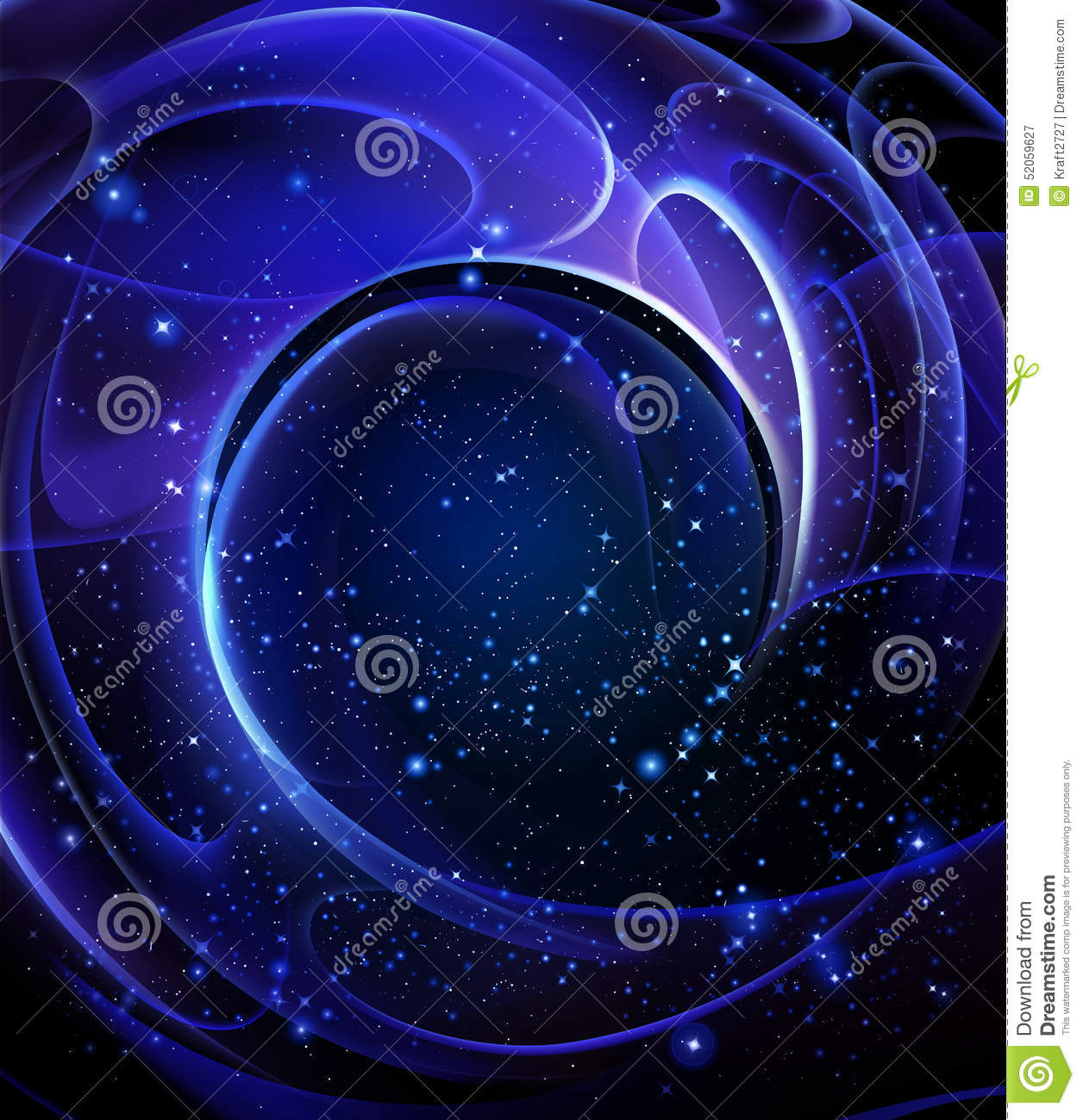 Shape And Space Artwork : Spiral galaxy stock illustration image