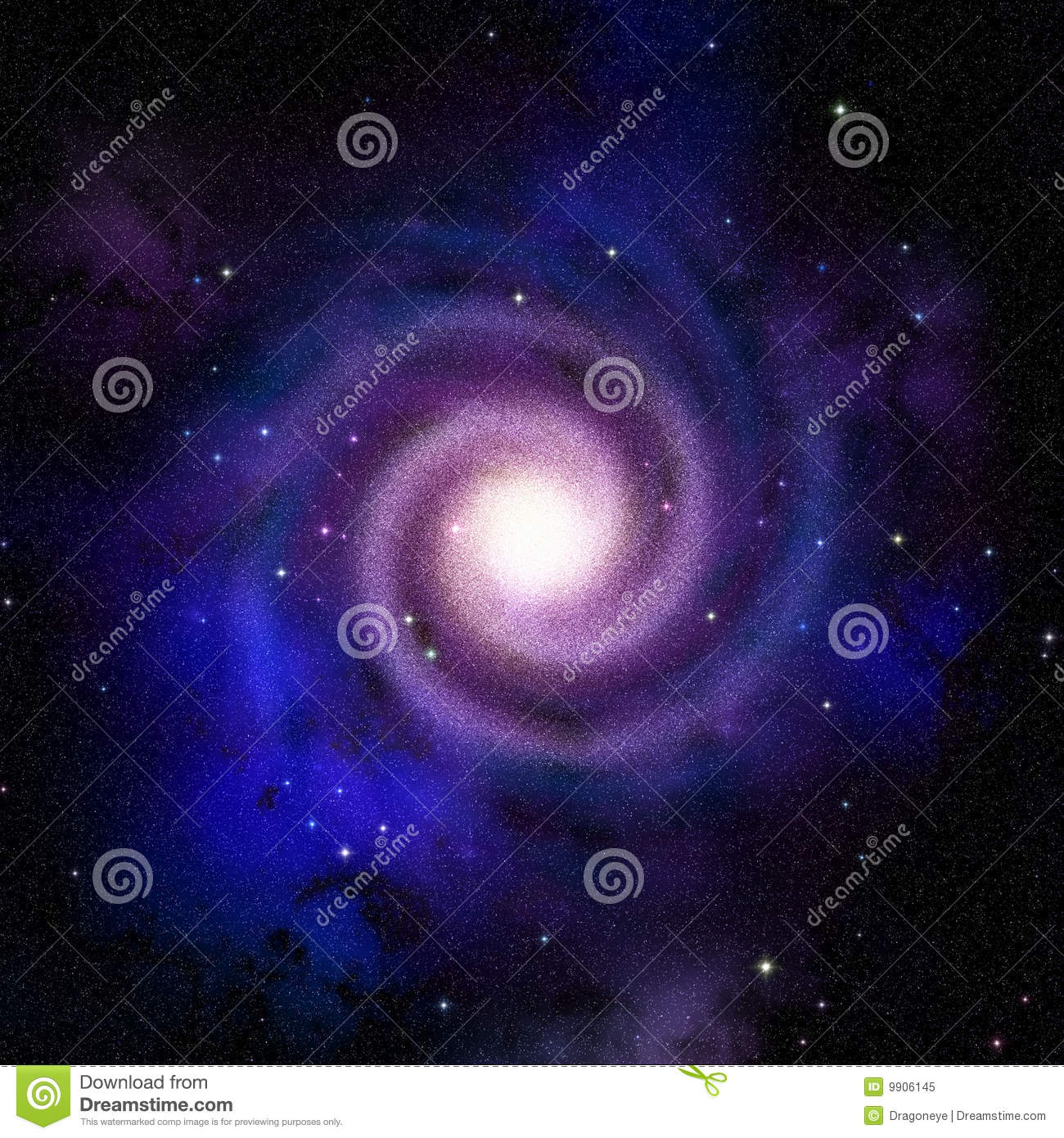Spiral Galaxy Top View Royalty Free Stock Photo - Image ...