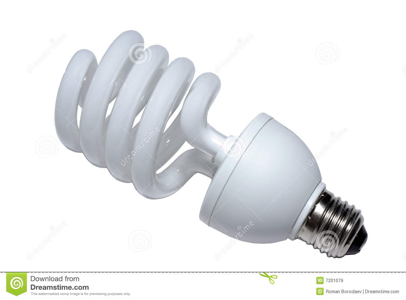 Light bulb energy saving lamp lightbulb fluorescent isolated on white background bright technology glass save power electric eco