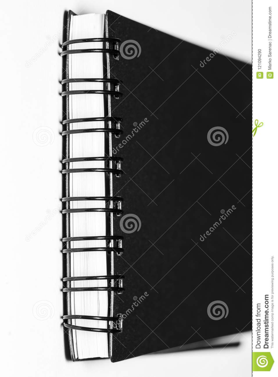 Spiral Notebook Template With The Black Cover Stock Illustration