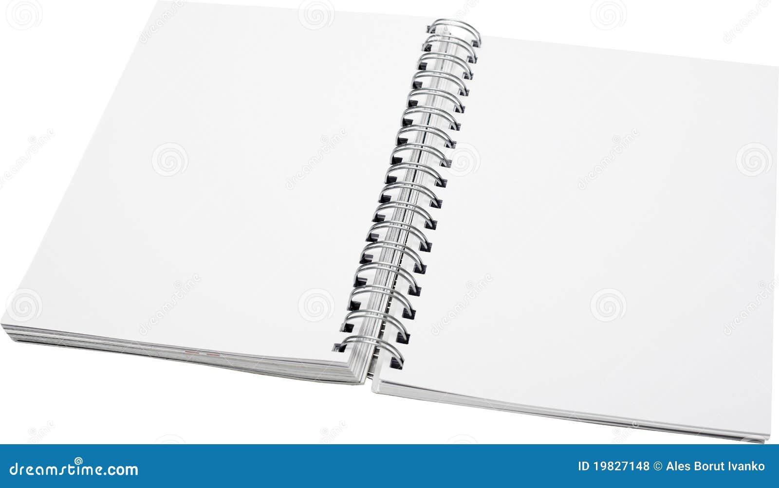 Open Spiral Notebook Spiral Open Not...