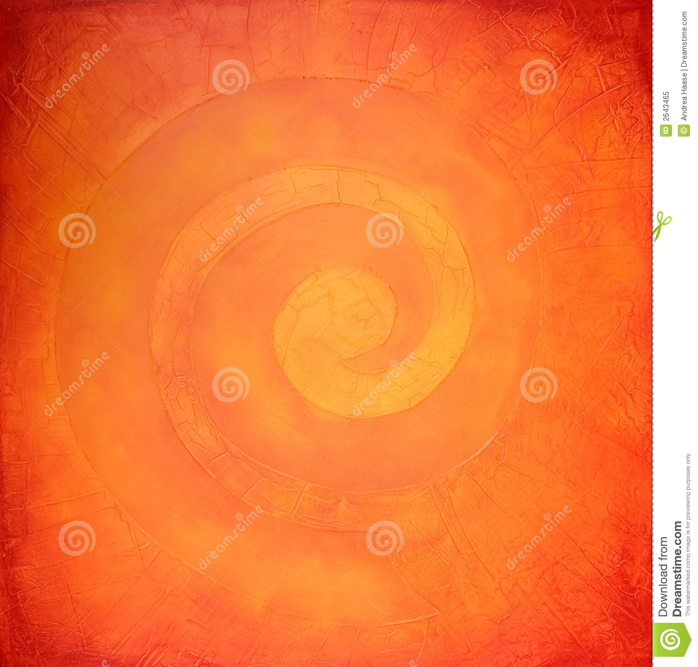 spiral painting in warm colors royalty free stock photo - image