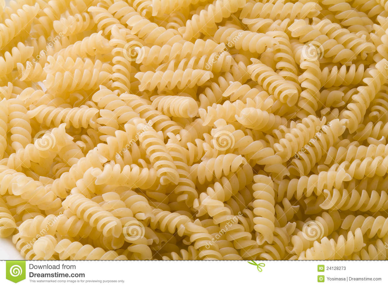 Spiral Pasta Stock Photos - Image: 24128273
