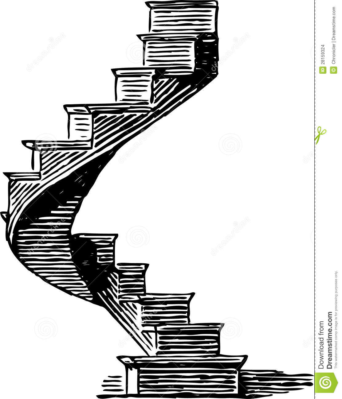 Spiral Staircase Stock Vector Illustration Of Planning