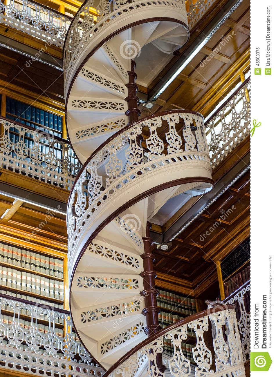 spiral staircase at the law library in the iowa state capitol stock photo image 45508376. Black Bedroom Furniture Sets. Home Design Ideas