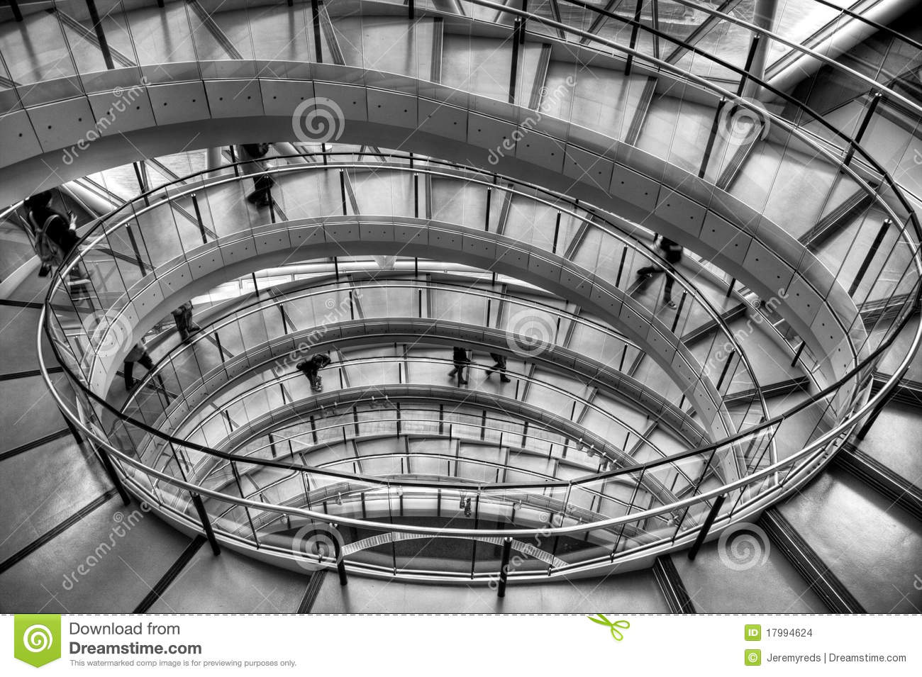 Spiral staircase in office building stock images image for Architecture spiral staircase