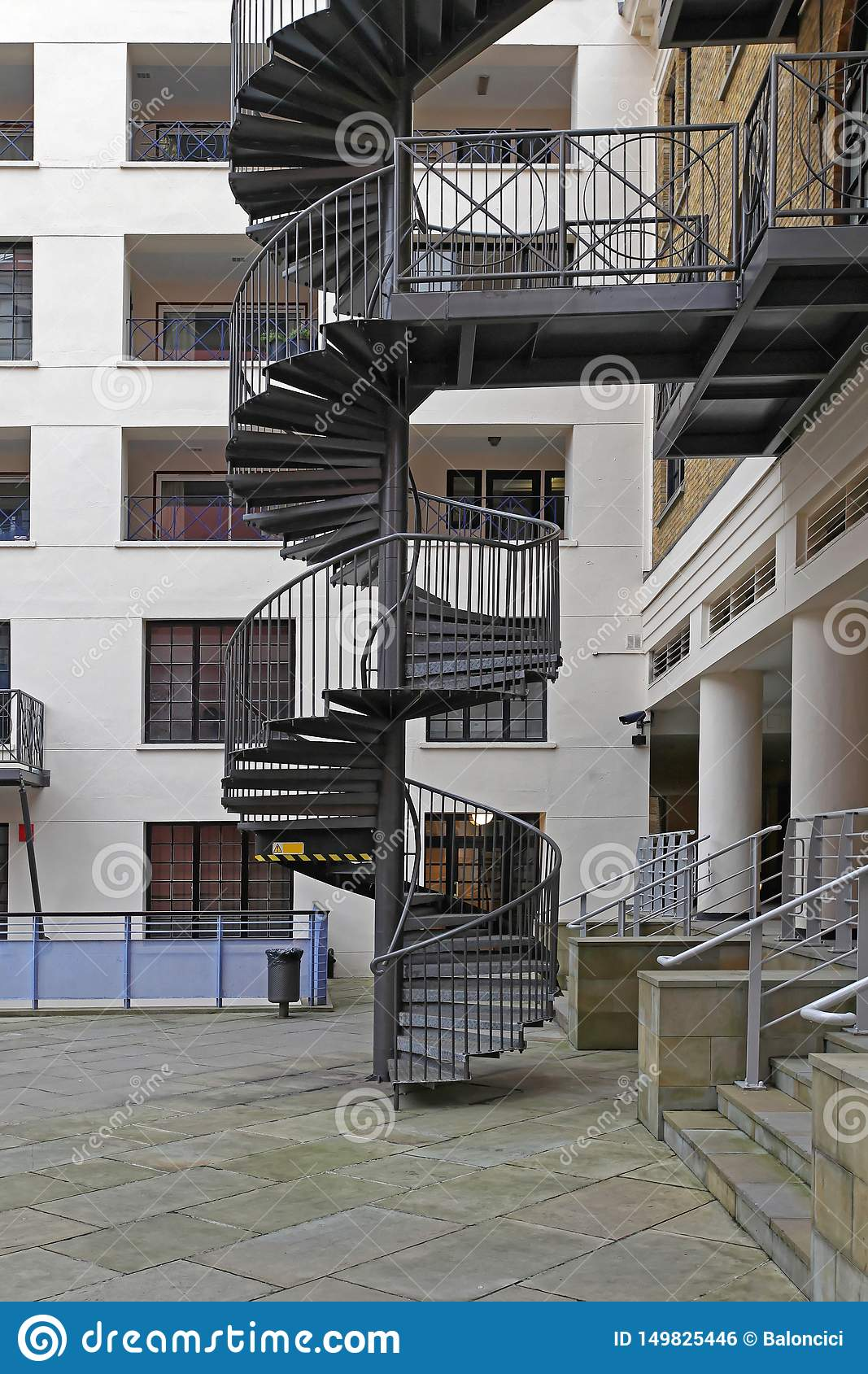 Picture of: Spiral Staircase Stock Photo Image Of Steps Emergency 149825446