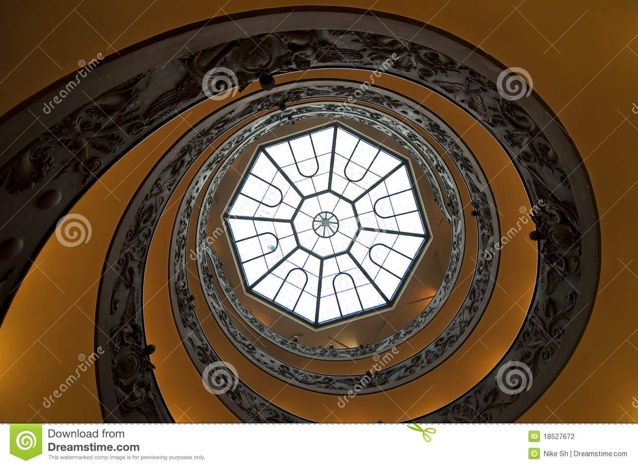 Download Spiral stairs stock photo. Image of platform, wideangle - 18527672