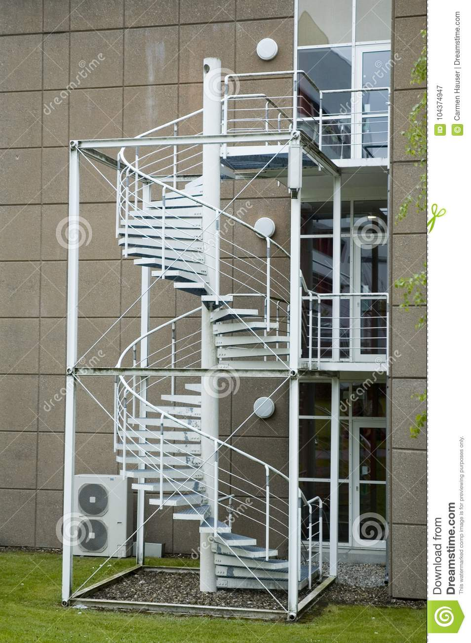 Spiral Stairs As Fire Escape