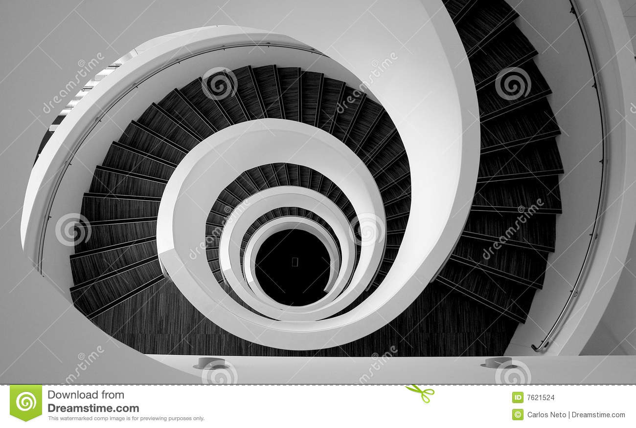 Spiral Stairs Detail Stock Images Image 7621524