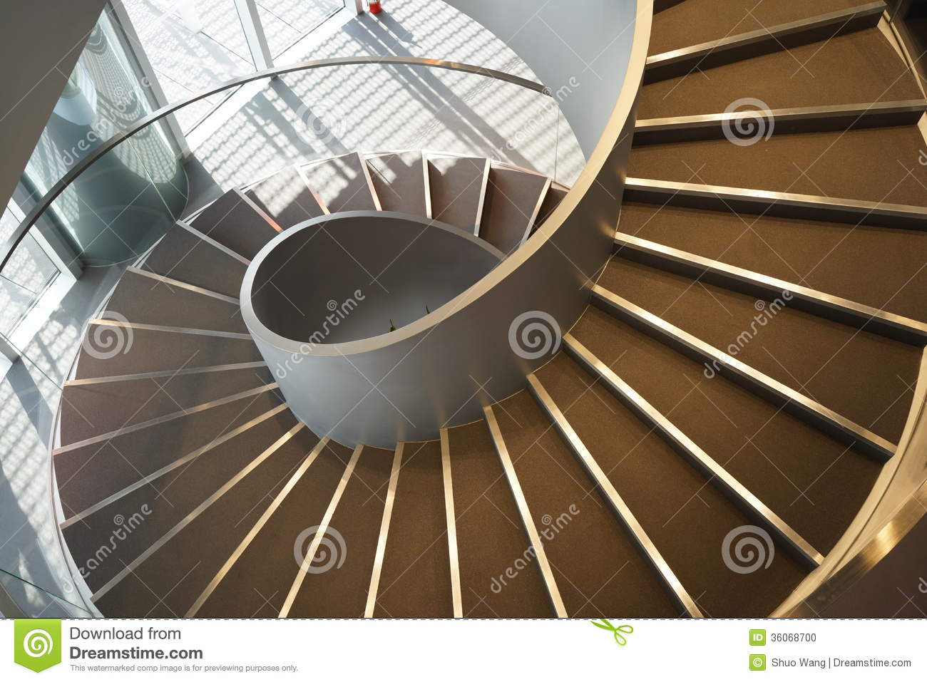 Download Spiral stairs stock photo. Image of downstairs, down - 36068700