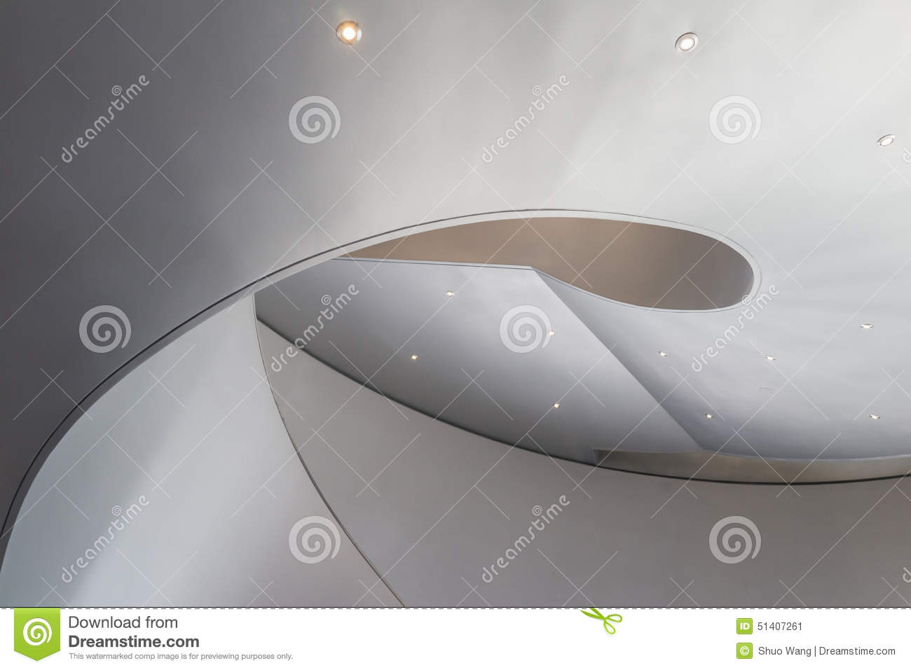Download Spiral stairs stock image. Image of angles, glass, downstairs - 51407261