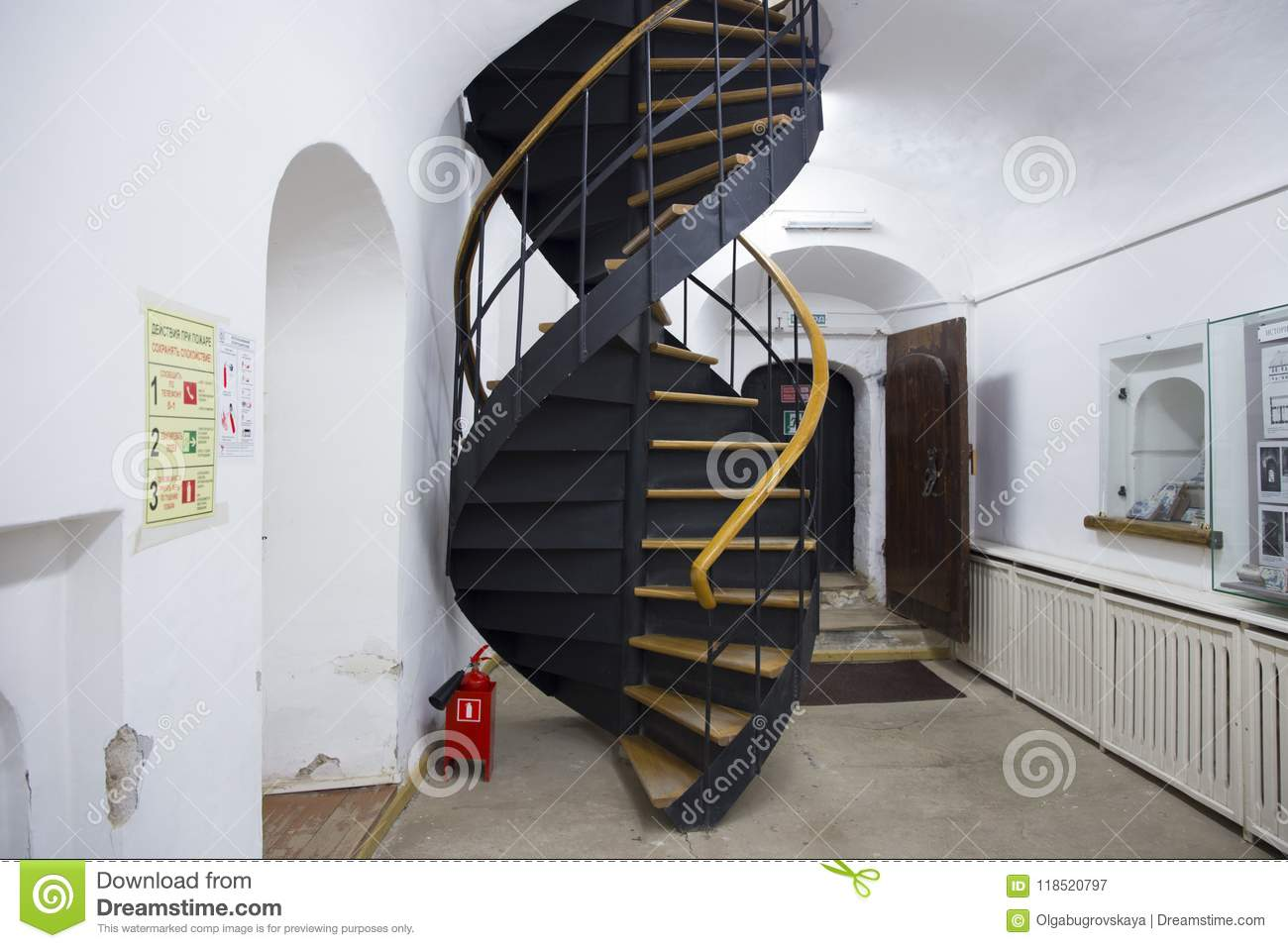 Download Spiral Staircase Museum Of Ryazan Kremlin Russia Editorial  Photography   Image Of Circular, Winding