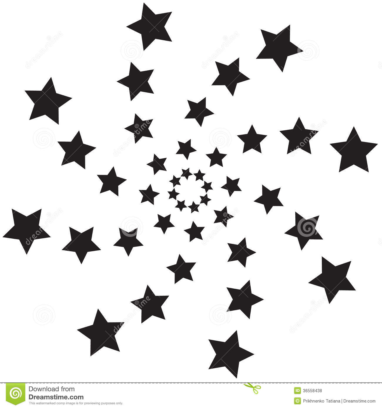 Spiral Stars Stock Vector Illustration Of Curve Abstract