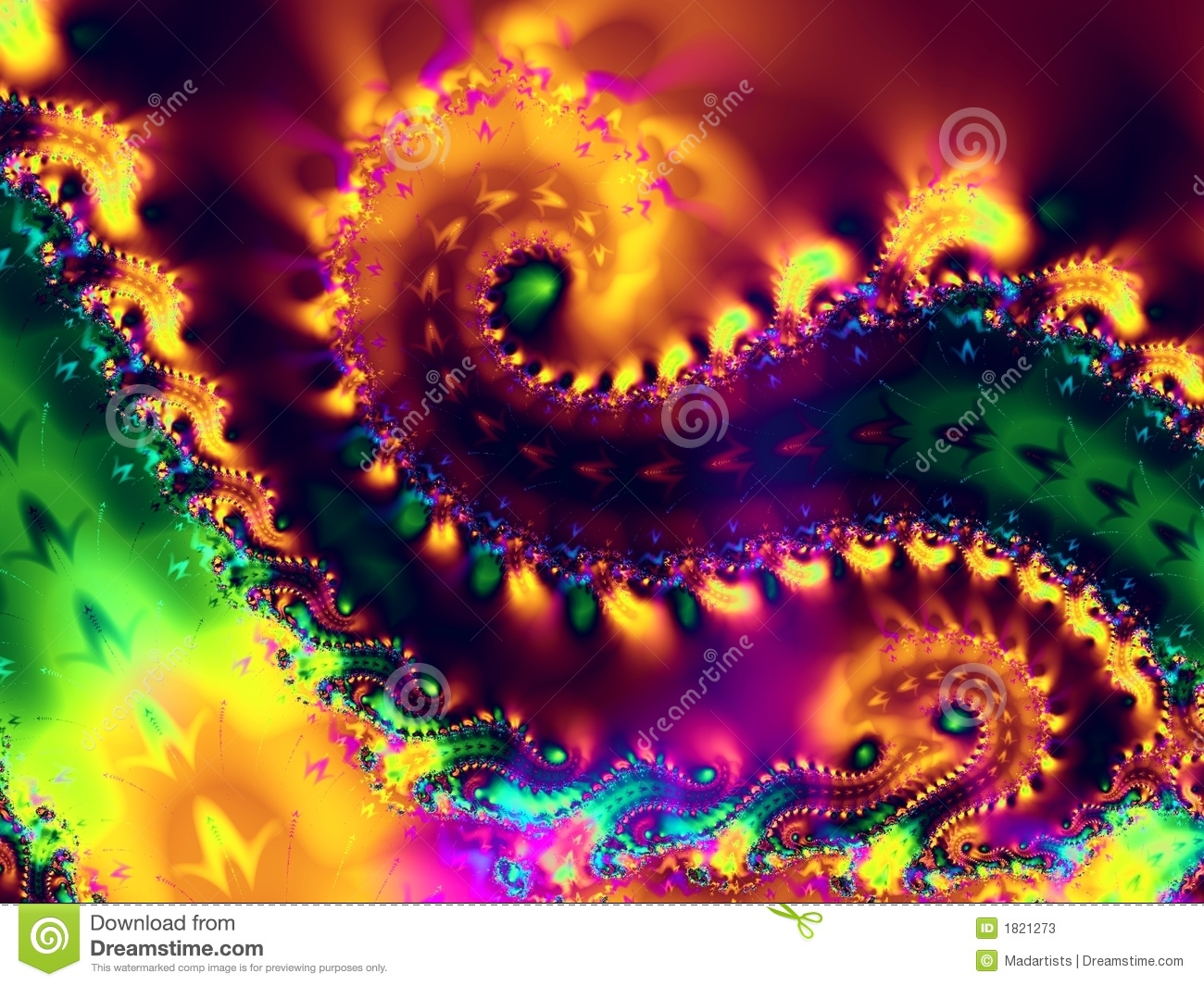 spiral swirls fractal texture stock image - image of cool, creative