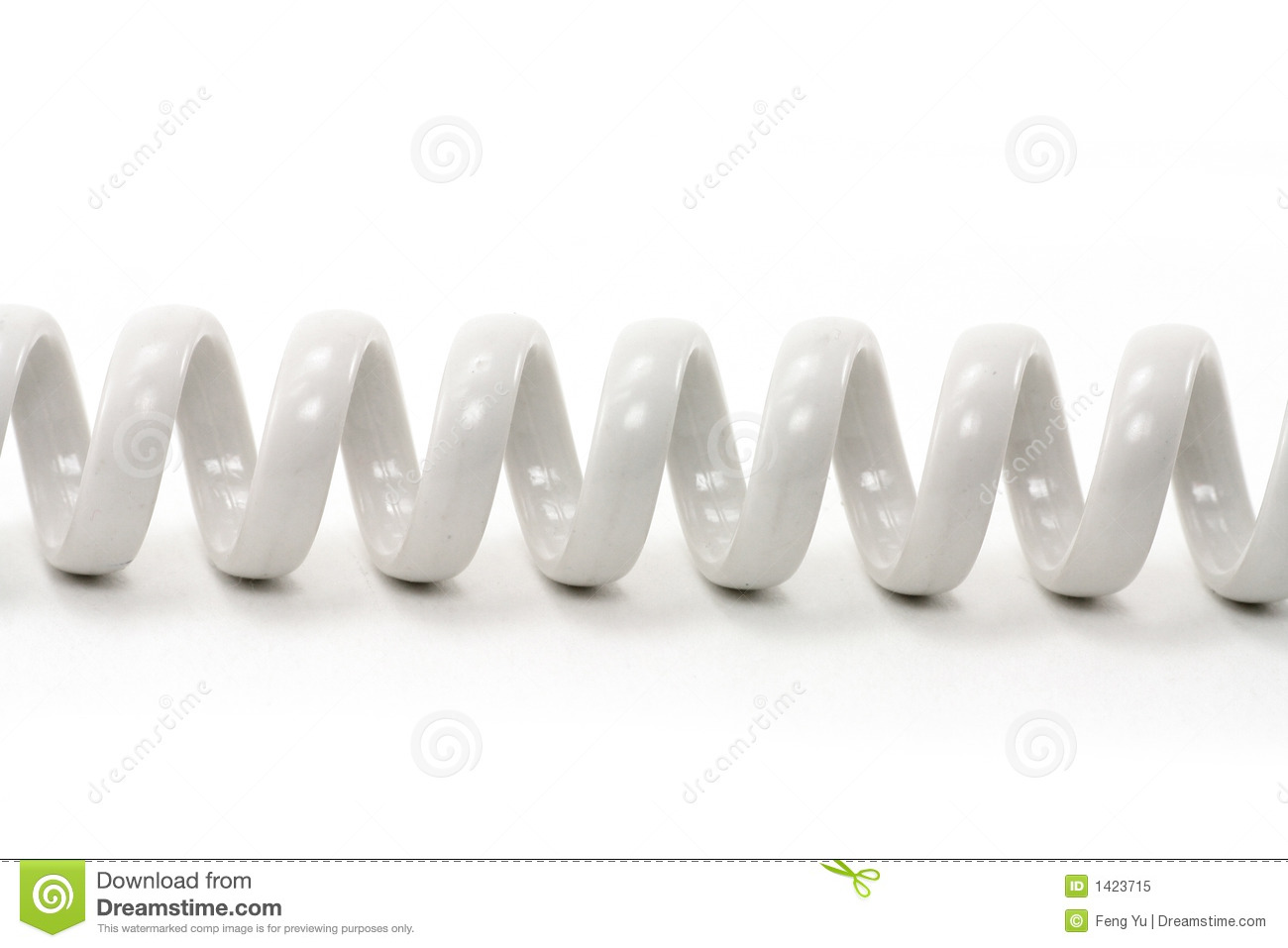 Spiral telephone cable royalty free stock photo image for Cable de telephone exterieur