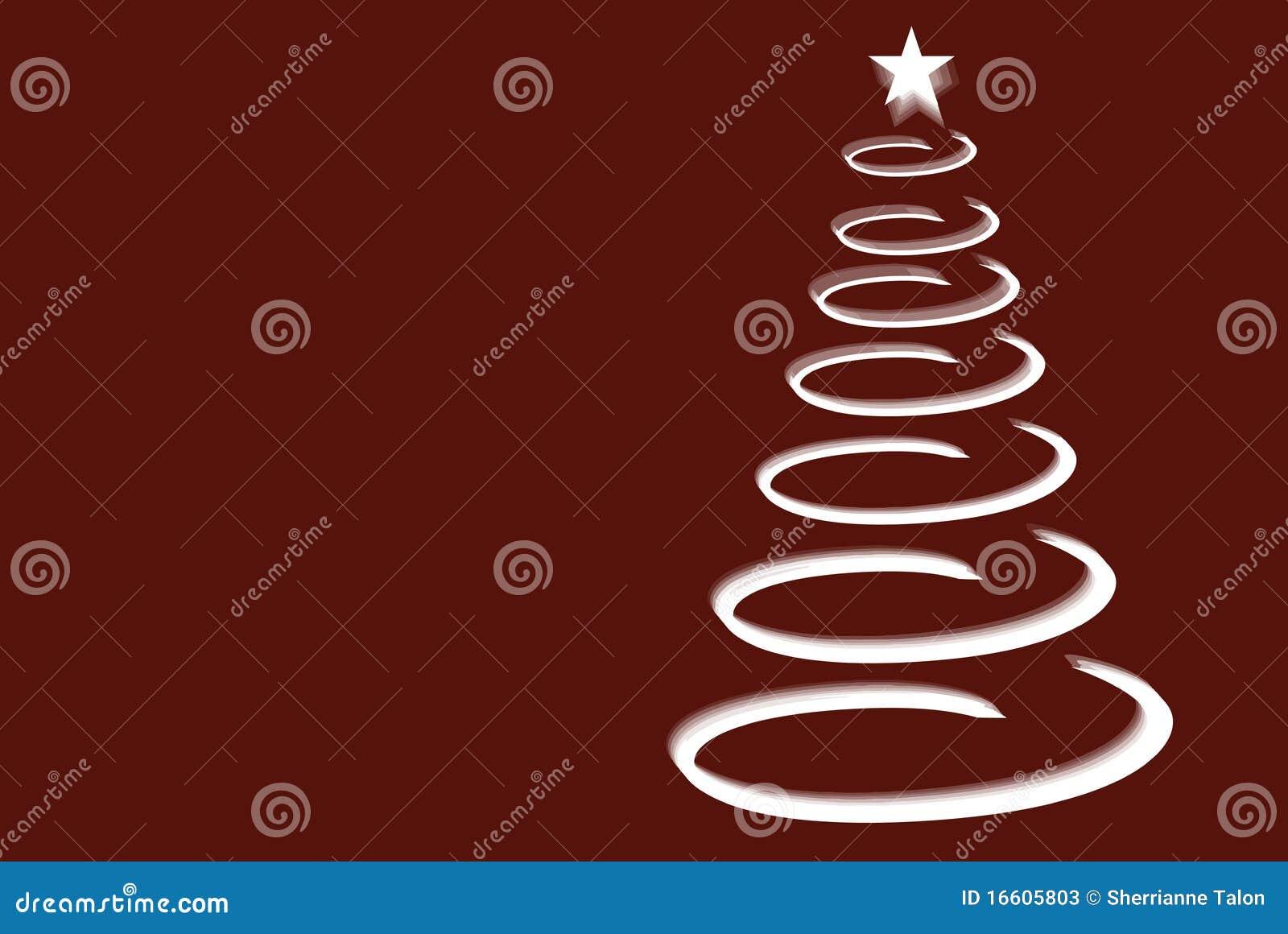 Spiral tree för jul