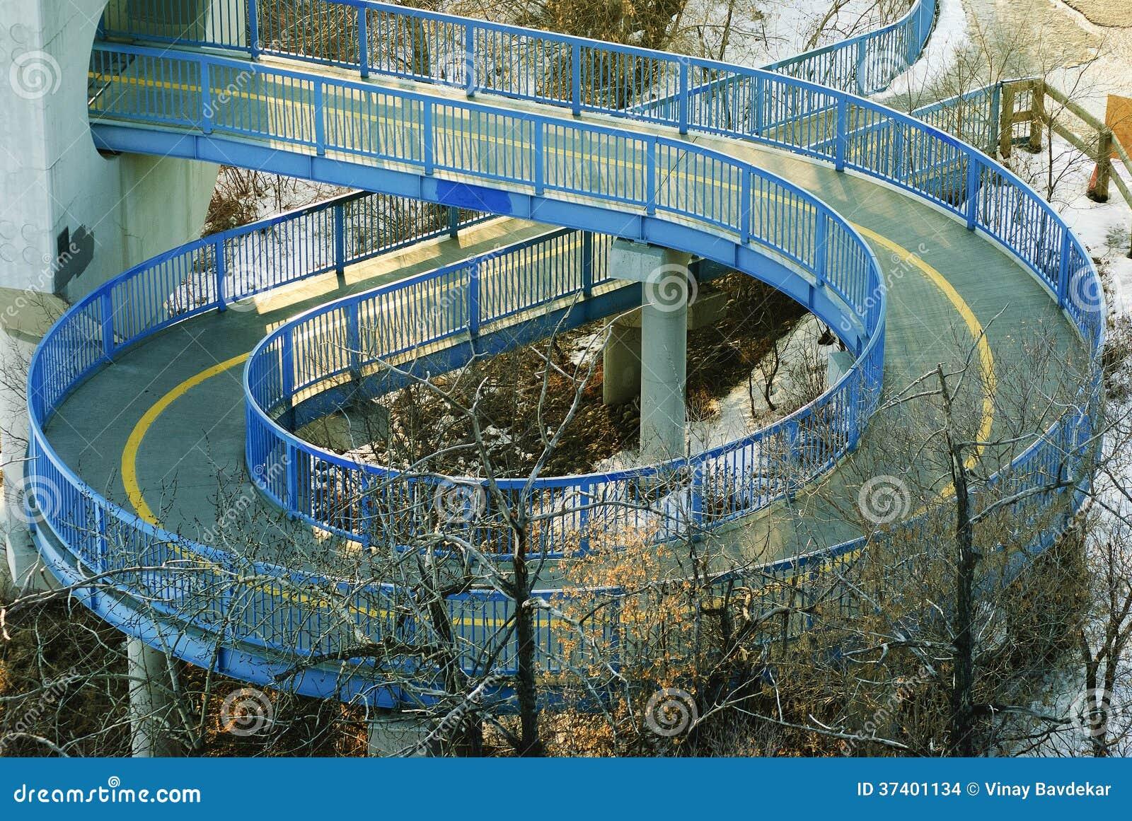 Spiral Walkway Below Lrt In Edmonton Stock Photo Image Of