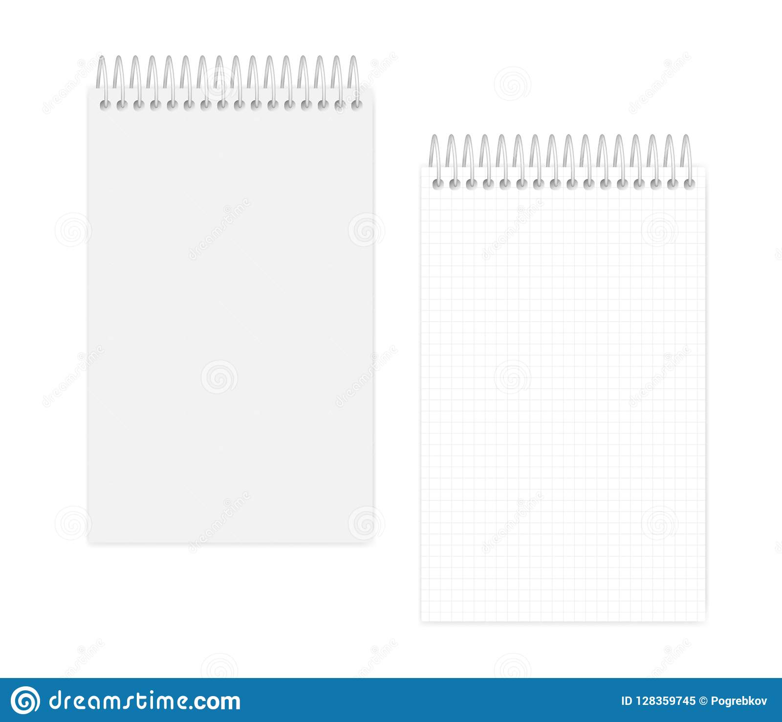 spiral wire bound junior legal size squared note book template